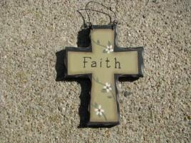 Primitive Wood Mini Cross WD803 - Faith