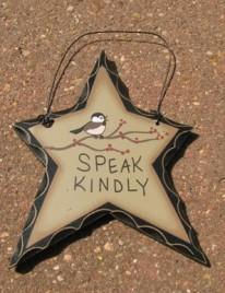 WD809 - Speak Kindly wood star