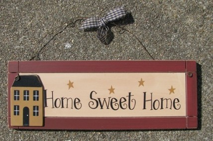 Primitive wood sign wp2014 home sweet home